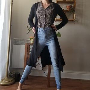 Nanette Lepore Long Cardigan 100% Merino Wool XS